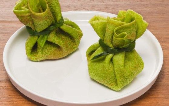 panquecas de espinafre